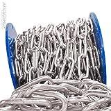 Seilwerk STANKE 8mm Rundstahlkette 10m langgliedrig Rolle Stahlkette -- DIN Eisenkette Stahl Eisen Kette abgerundet