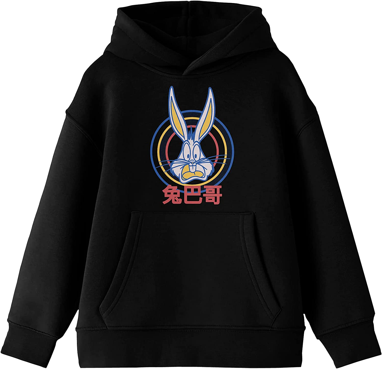 Looney Tunes Cartoon Bugs Bunny Hooded Sweatshi specialty shop Black Selling rankings Youth Boys