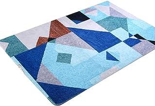 WXQ Bedroom Thick Bedside Carpet Geometric Bedroom Rug Nordic Sofa Rug Living Room Creative Carpet Modern Minimalist Rug H...