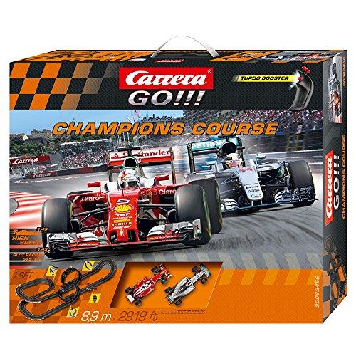 Carrera Toys GO Champions Course - Circuito automobilistico, 8,9 m, Nero/Rosso