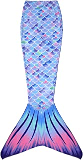 Mermaid Tail Swimmable Costume Swimsuit for Girls Swimming (No Monofin)