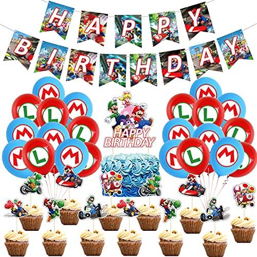 マリオカート 誕生日 飾り付け 風船 バースデー バルーン 飾り 男の子 女の子 happy birthday 装飾 セット