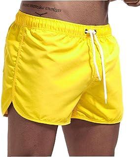Yililay Men Swimwear Swim Shorts Trunks Beach Board Shorts Swimming Pants Swimsuits Men Running Sports Surffing shorts M