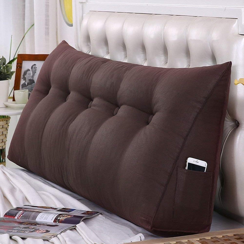 GONGFF Coussins de tête de lit tête de lit Couverture Triangle Bed Wedges Dossier Taille Coussin Chambre Lavable (Couleur  gris, Taille  135X50X20CM)
