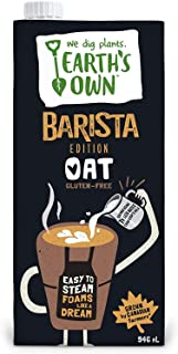 Earth's Own - Oat Milk Barista Edition   12 Pack - 946mL   Gluten Free Plant Based Beverage   Dairy Free   Vegan Friendly...