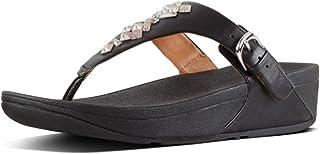 Fitflop Women's Skinny Tm Toe-Thong Sandals Crystal Flip Flops