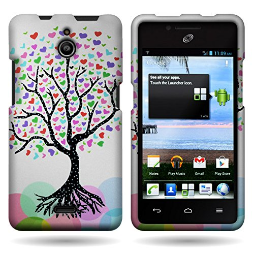 Huawei H881C Case, CoverON [Snap Fit Series] Hard Design Slim Protective Phone Cover Case for Huawei Ascend Plus H881C - Love Tree