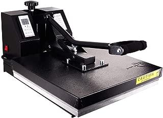 PowerPress HPM-1515-BK Industrial-Quality Digital Sublimation T-Shirt Heat Press Machine, 15
