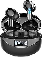 【2021业界上市 Bluetooth 耳机&LED显示剩余量显示】无线耳机 Ennice Bluetooth5.1+EDR搭载Type‐C快速充电 蓝牙 耳机 36小时播放 支持AAC/SBC自动配对记忆 瞬间连接 振动 入耳式...