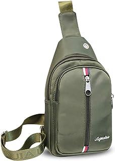 FANDARE Bolso Pecho Cruzada al Hombro Sling Bag Hombre con Agujero para Auriculares Bolsa de Cintura Bolsos Cruzados Bando...