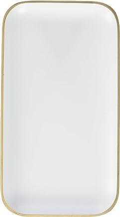 Preisvergleich für Ein 'domo pv-liv-1191Point-Virgule Rechteckiges Serviertablett weiß 22x 12cm, Holz, braun