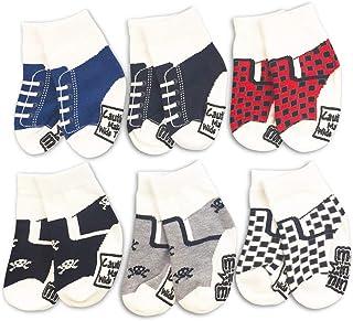 Me In Mind 6-Pair Gift Baby Socks -Sneaker Set #1- Shoe Sneaker Infant Newborn