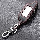 HEZHOUJI für Leder Schlüsseletui Für Tamarack Pandora DXL3000 Zweiwege-LCD-Fernstarter Autoalarm, Schwarz