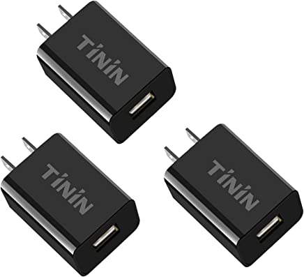 3-Pack Quick Charge 3.0 USB Wall Charger Adapter,18W Charging Block Fast Charger for Samsung Apple iPhone Ipad Google LG HTC and More(Quick Charge 2.0 Compatible) Qualcomm Certified USB Charger TININ