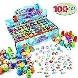 JOYIN 100 Stampini Timbri Bambini Regalo Bimbi (50 Diversi Disegni, Timbri in Plastica, Ti...