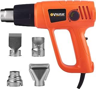 Corded Electric Heat Gun 2000 Watts Hot Air Gun 2 Temperature Adjustment Including 4 Nozzles VPHG1012