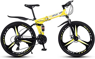 Bicycle Fork 26 Inch Folding Racing Bikes Folding Bike Leisure Folding Bikes Bicycle Folding Bike Full Suspension Fat Tire...