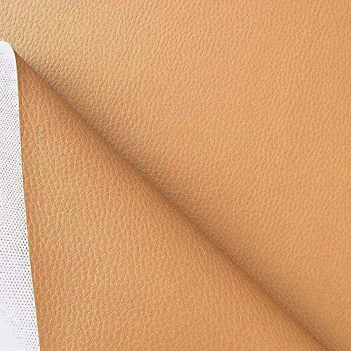 SSYBDUAN Möbelstoff Premium Bezugsstoff Zum Kunstleder Polsterstoff Meterware Als Robuster Premium Bezugsstoff, Belstoff Zum Hen und Beziehen, 140cm Breit (Pink) (Color : Hellbraun)