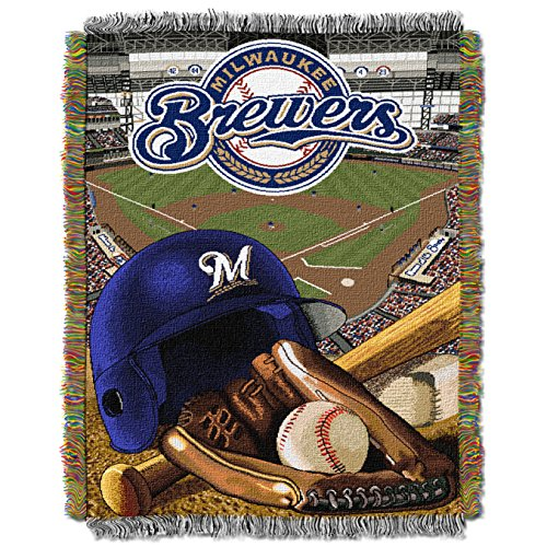 MLB Milwaukee Brewers 'Home Field Advantage' Woven Tapestry Throw Blanket, 48' x 60'