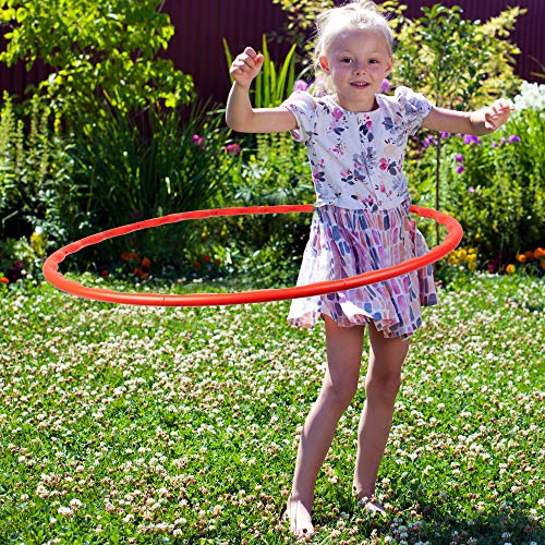 Bramble 6 Pack Kids Hula Hoop, 80cm - Adjustable, Detachable, Snap Together & Colourful - Perfect for Hours of Fun, Game & Entertainment, Fitness, Exercise & Gymnastic, for Children & Adults.