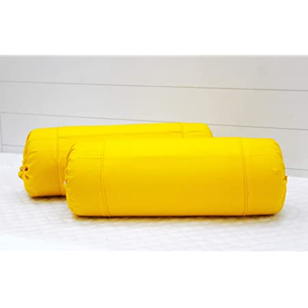 """AURAVE Cotton 220 TC Bolster Cover (16""""x32""""_Yellow)"""