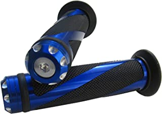 "MotorToGo Blue CNC Aluminum Motorcycle 7/8"" 22mm Handlebar Gel Grips for 2010 Triumph Tiger 1050 ABS"