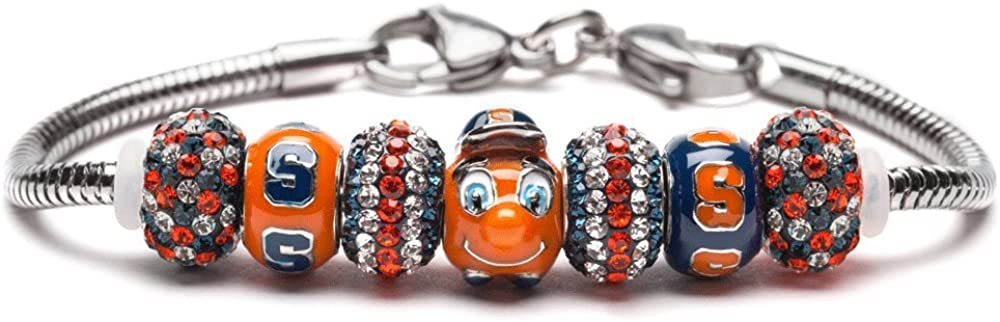 Al sold New mail order out. Syracuse University Bracelet SU Oranges Otto Bead - 1