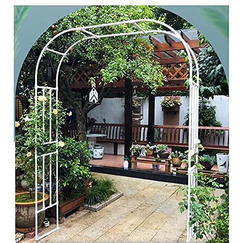WFENG Metal Garden Arch Enrejado/Pérgolas de Jardín,Para Plantas Soporte Rosas Escalada Archway Jardín Decoración/Blanco / W150cm×H267cm