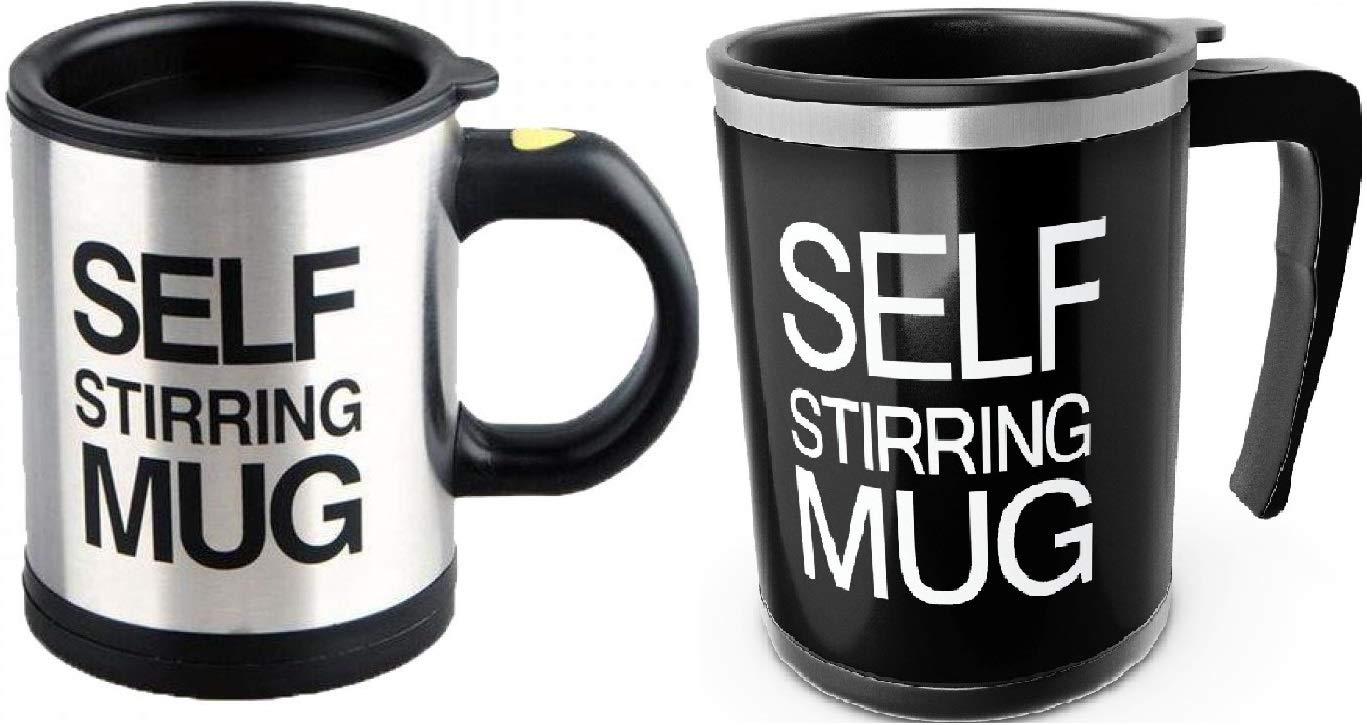 Automatic Stirring Coffee Mixer Black