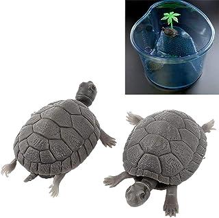Yimosecoxiang Hermoso y Adecuado para Mascotas realistas 3D Artificial Fake Little Turtle sin Alimentar pecera Tank