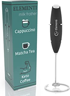 Best Elementi Milk Frother Handheld Electric Matcha Whisk, Handheld Milk Frother Electric Stirrer and Handheld Coffee Frother Mini Blender, Hand Frother Drink Mixer, Frappe Maker, Latte Machine Milk Foamer Review
