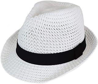 [スウィングプラス] SWINGPLUS ハット アゼ編み 中折れ 帽子 メッシュ リボン スナップ ブリム サイズ調整可能 オールシーズン フリーサイズ メンズ