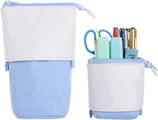 Pop up Pencil Case - Pen Telescopic Holder Stationery Case Standing Pouch Holder Colorful College office Organizer for Stu...
