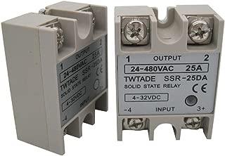 2PCS TWTADE SSR-25 DA 25A 3-32V DC/24-380V AC SSR Single Phase Solid State Relay ssr-25da