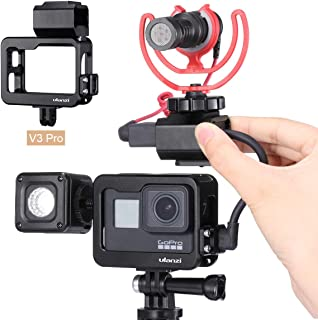 ULANZI V3 Pro Gopro Housing Case with Cold Shoe for Light Stand + Microphone Mount Compatible for GoPro Hero 7 6 5 Mic Aud...