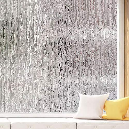 LMKJ Película de Papel de Aluminio para Ventana de Vidrio Pegatinas electrostáticas de Agua de Lluvia Pegatinas de Vidrio Esmerilado Pegatinas de Vidrio Autoadhesivas de privacidad A43 60x200cm