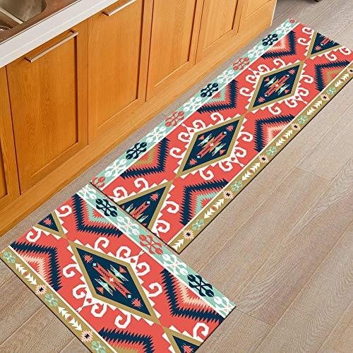 2 stuks tapijt keuken wastafel anti-slip vloermatten absorberend wasbaar decoratie 40 * 60+40 * 120cm 03
