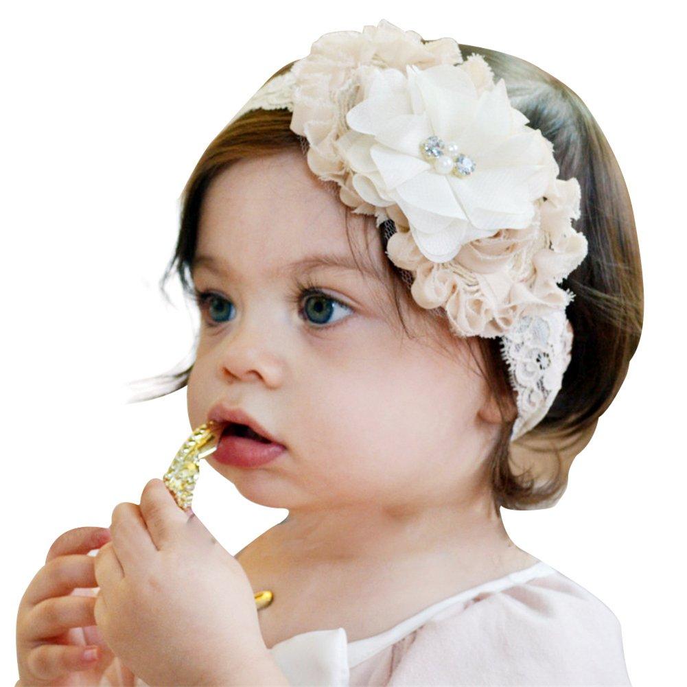 HONEY$HOMEY Flower Lace Headband Baby Stretch Headband