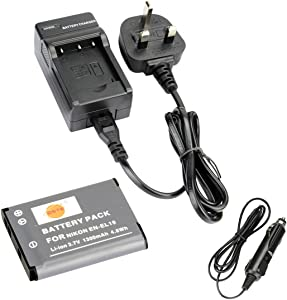 DSTE   EN-EL19 Rechargeable Li-ion Battery DC109U Travel and Car Charg...