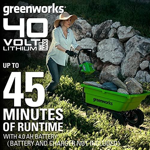 Greenworks Tools 7400007 Cordless Garden Cart Practicalities