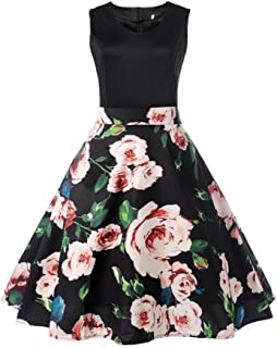 Summer Dress, AgrinTol Women Casual Vintage Printing Bodycon Sleeveless Evening Party Prom Swing Dress