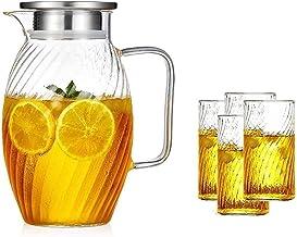 HJW Nuttige waterkoker theepot Cup glazen kan met deksel herbruikbare ijs theepot is zeer geschikt voor koffie sap water f...
