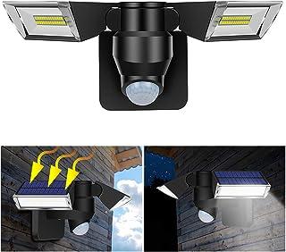 Tomshine Solar Powered Wall Light PIR Motion Sensor & Lighting Sensor Two-Sided Illumination 3 Lighting Modes IP65 Water-r...