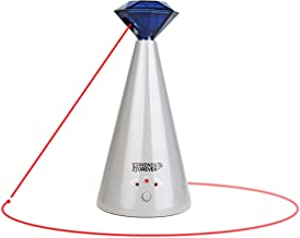 Friends Forever Interactive Laser Cat Toy - Automatic Rotating Laser Pointer for Cool Cats, Electronic Toys for Stimulating Exercise, Battery Powered Auto Lazer, 3 Speed Mode