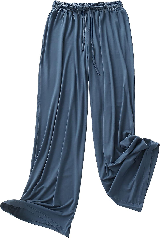Betusline Women's Modal Soft High Waist Wide Leg Casual Pants