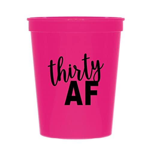 Hot Pink Thirty AF Cups 30 30th Birthday Party Disposable