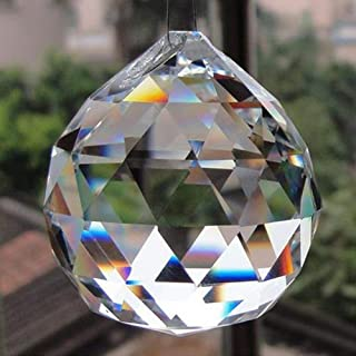 Petrichor Clear Crystal Hanging Ball Feng Shui Prisms Sun-Catcher Window Decorative Good Luck Prosperity - Home Decoration...