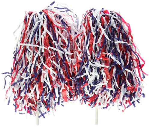 Top pom poms cheerleading red white blue for 2021