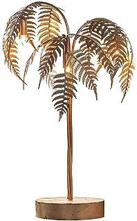 Lampadaire doré Palmier lampadaire rétro en Fer forgé Chambre Villa Lecture Verticale décoration lampadaire (décoration de...