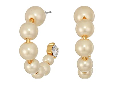 J.Crew Theo Pearl Hoop and Crystal Earrings (Pearl) Earring